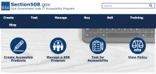 Screenshot of section508.gov website