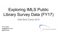 title slide for IMLS Library Survey Data webinar